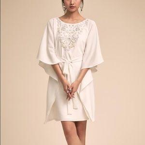 BHLDN Ivory Beaded Short Dress
